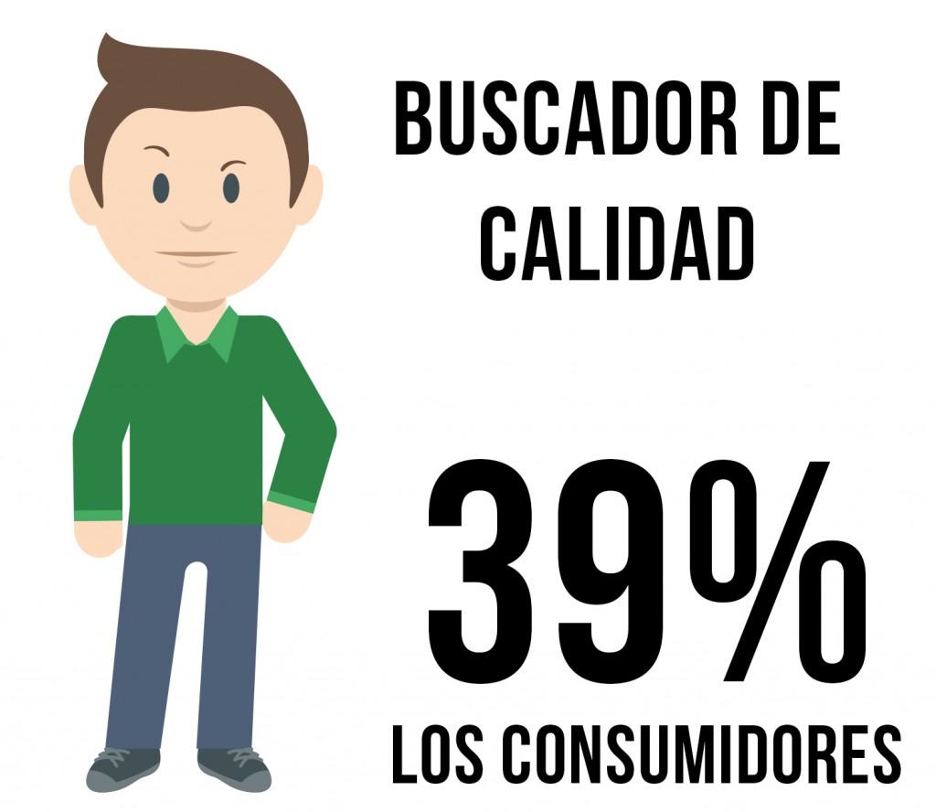 consumidor buscador de calidad